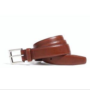 J. Crew Classic Leather Dress Belt New English Tan
